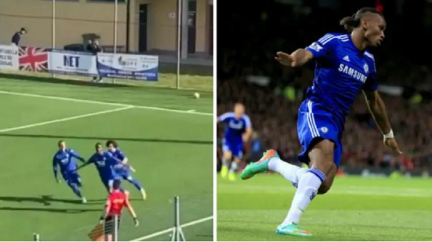 Ο υιός Ντρογκμπά πέτυχε το πρώτο του γκολ και πανηγύρισε όπως ο... μπαμπάς (vid)
