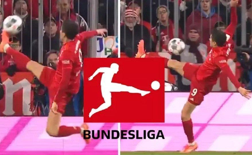 Το απίθανο κοντρόλ του Λεβαντόφσκι που θύμισε το… logo της Bundesliga (video)