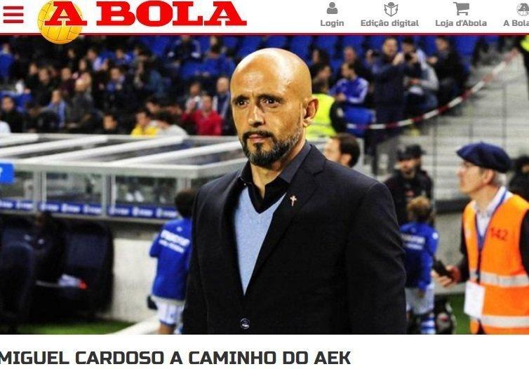 A Bola: «Στο δρόμο για την ΑΕΚ ο Καρντόσο»