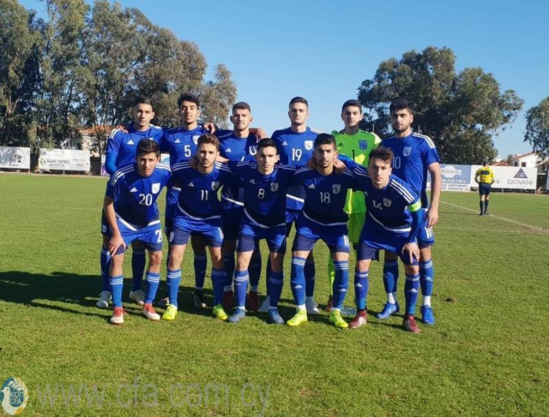 Ισόπαλο 1-1 το φιλικό της Εθνικής Νέων με τη Δανία
