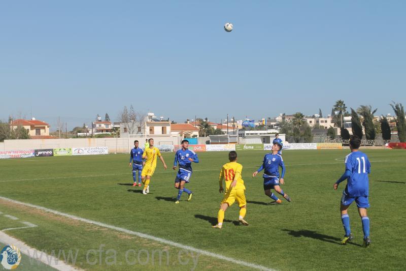 Δύο φιλικοί αγώνες Κύπρου - Ρουμανίας σε επίπεδο Παίδων και Νέων
