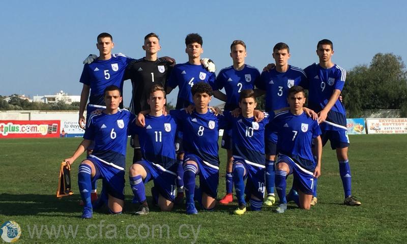 Ισόπαλο 2-2 το πρώτο φιλικό της Εθνικής Παίδων U15 με την Αυστρία