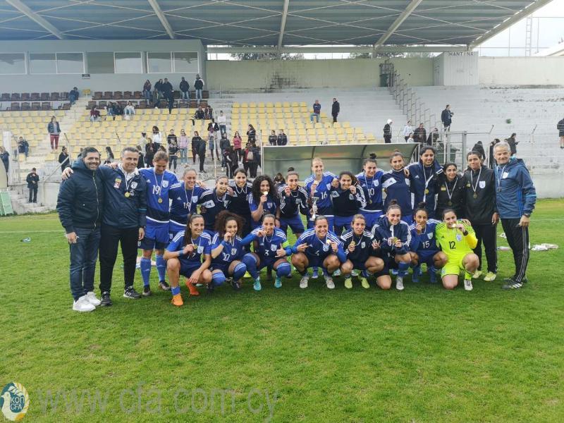 Πρωτιά για την Εθνική Γυναικών στο Aphrodite Cup μετά το 1-0 επί της Εσθονίας
