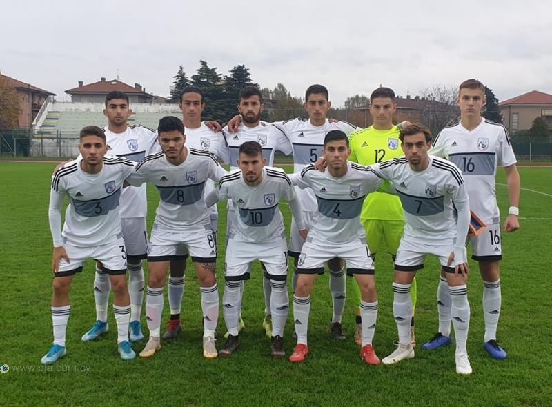 Ήττα της Εθνικής Νέων από την Ιταλία με 2-0