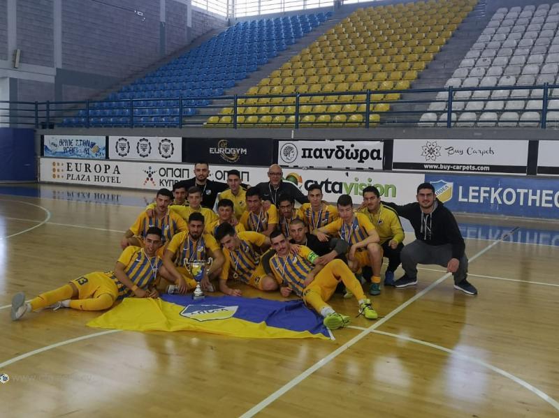 Futsal: Απονομή τίτλου στο ΑΠΟΕΛ