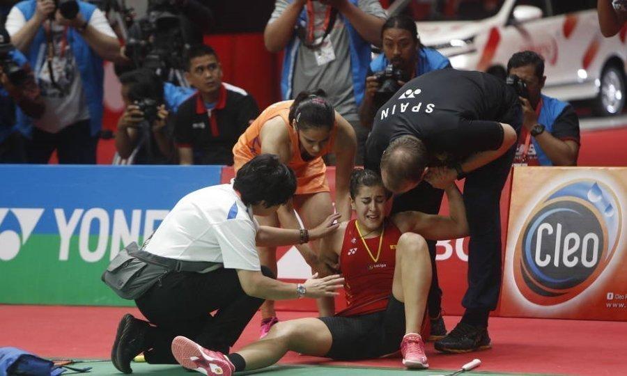 Σοκαριστικός τραυματισμός στο μπάντμιντον: Εννιά μήνες εκτός η Ισπανίδα πρωταθλήτρια (video)