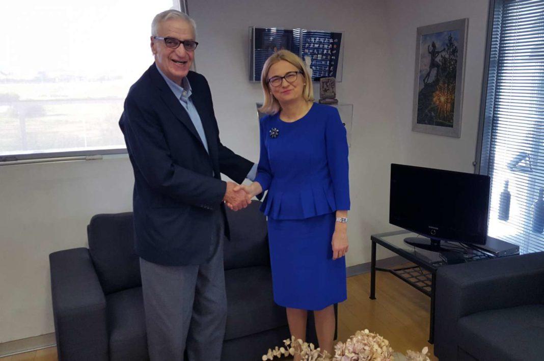 Η πρέσβειρα της Πολωνίας στο Ολυμπιακό Μέγαρο