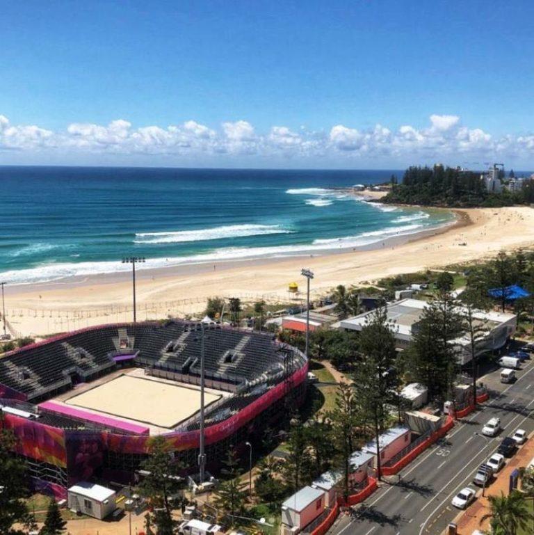 Εντυπωσιακό το γήπεδο του Beach Volley στο Γκόλντεν Κόουστ