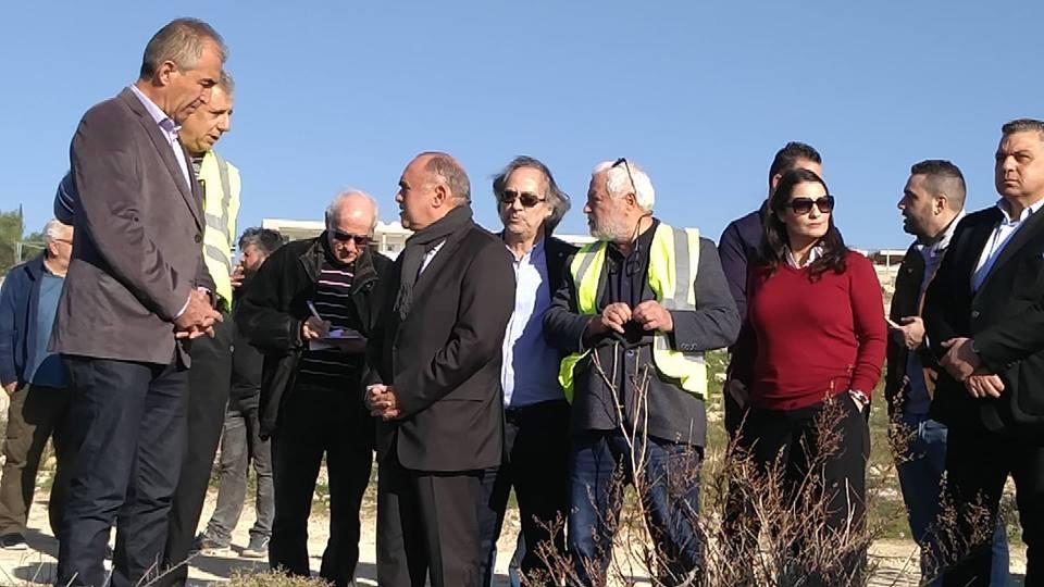 Ξενάγηση στον χώρο της ανέγερσης της Limassol Arena (εικόνες - δηλώσεις)