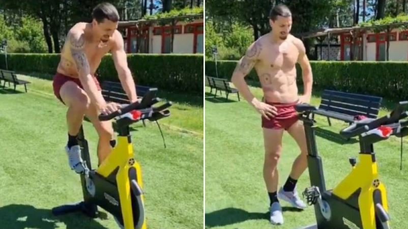 Ο Ζλάταν «λιώνει» στο ποδήλατο: «Τίποτα δεν τελειώνει αν δεν το πω εγώ» (vid)