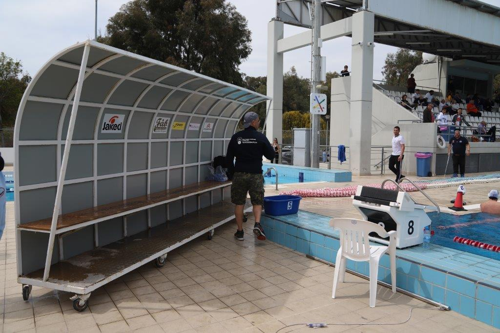 Τελετή παράδοσης πάγκων στο Ολυμπιακό Κολυμβητήριο Λεμεσού