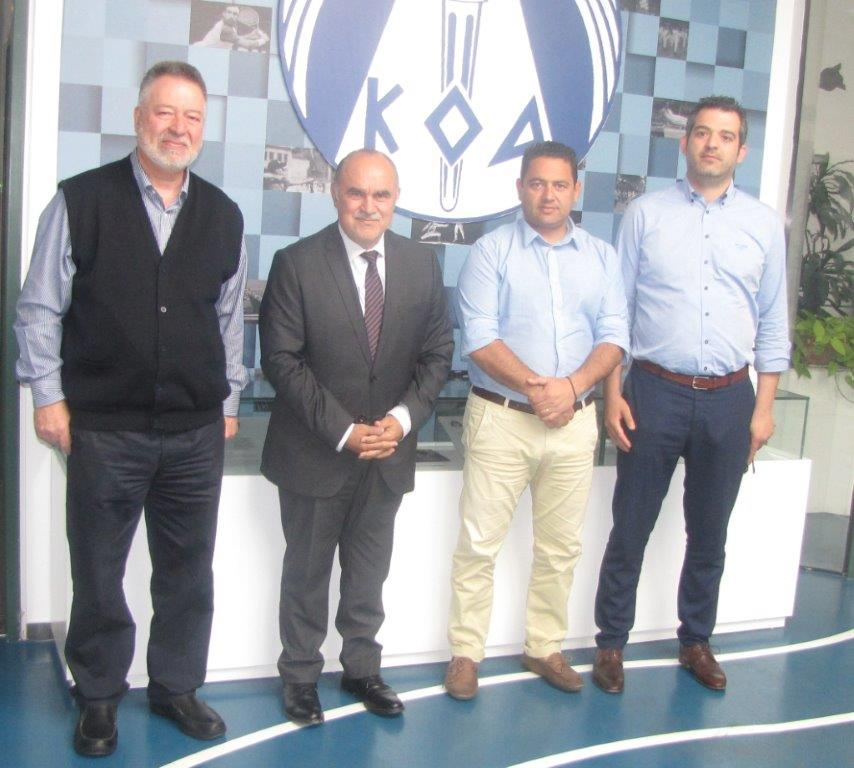 Ο Μιχαηλίδης συναντήθηκε με τον πρόεδρο του Κ.Σ. Φασούλας