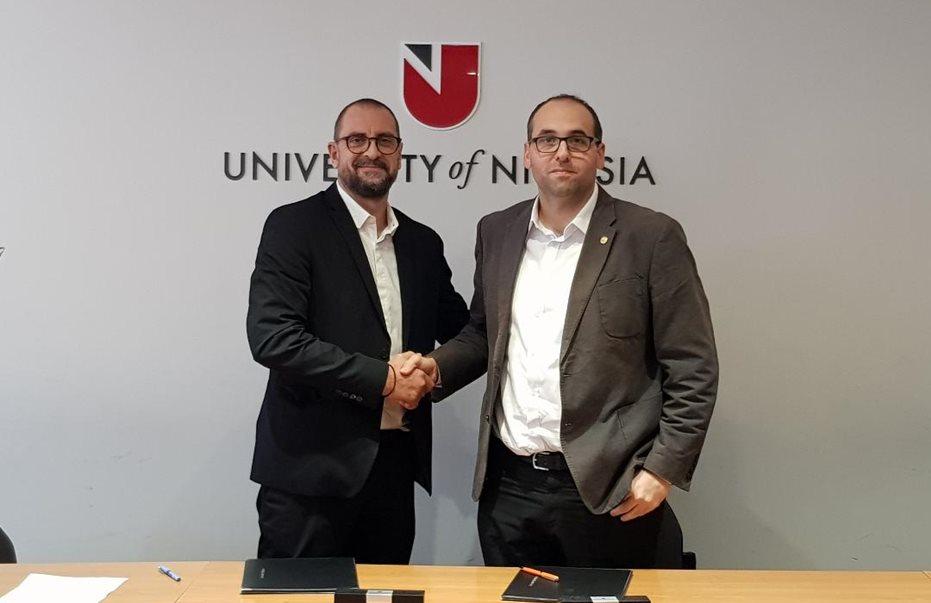 Μνημόνιο συνεργασίας μεταξύ Πανεπιστημίου Λευκωσίας και Ένωσης Αθλητικογράφων Κύπρου