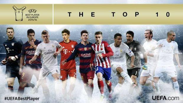 Η δεκάδα των κορυφαίων της UEFA