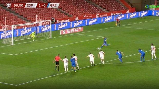 Ισπανία - Ελλάδα: Με πέναλτι του Μπακασέτα το 1-1