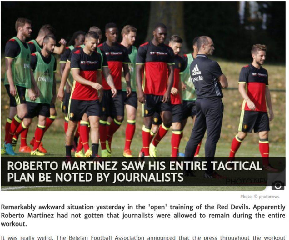 Βέλγιο: Φανέρωσε την τακτική του ο ανήξερος Μαρτίνες!