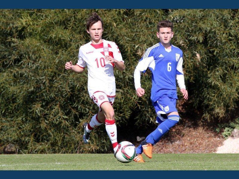 Ισόπαλη με τη Δανία η Εθνική Παίδων U15