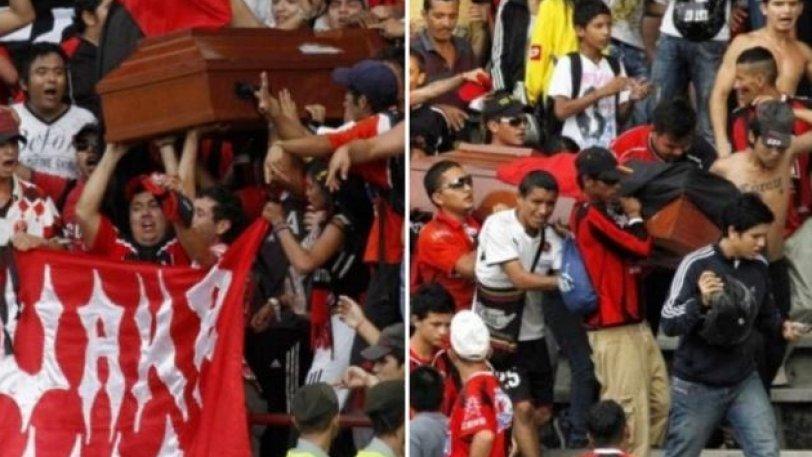 Οπαδοί στην Κολομβία πήραν στην εξέδρα νεκρό 17χρονο με το φέρετρο! (pic)