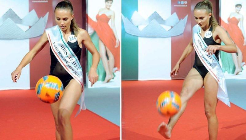 Η Miss Ιταλία θυμίζει... Μέσι! (video)