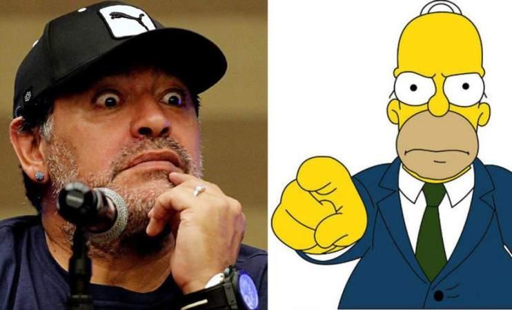 Στο «στόχαστρο» του Μαραντόνα οι… Simpsons!