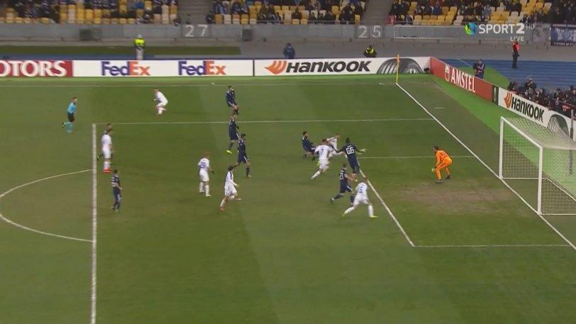 Ντιναμό Κιέβου - Ολυμπιακός: Το 1-0 της Ντιναμό με τον Σολ (vid)