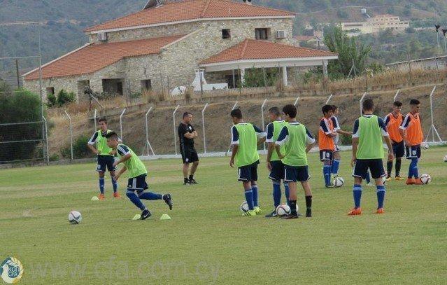 Προπονήσεις Εθνικής Παίδων U-14