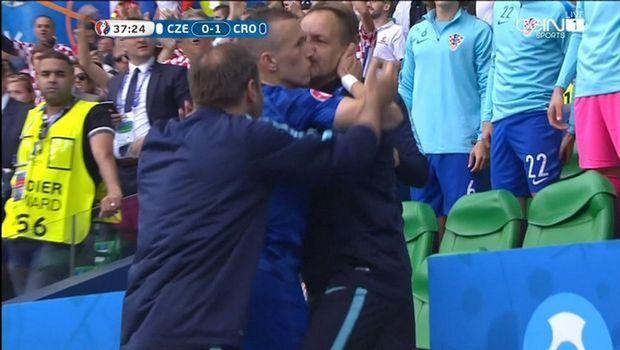 Το καυτό φιλί του Πέρισιτς στον προπονητή του