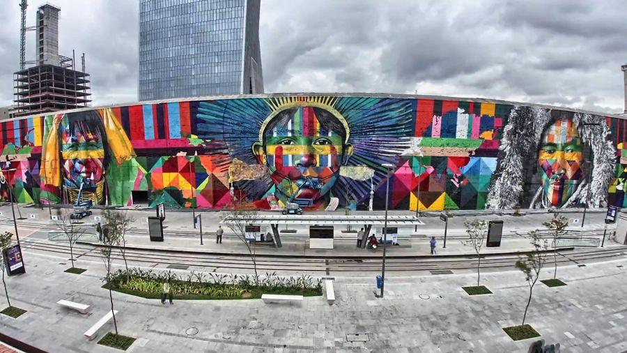 Το μεγαλύτερο γκράφιτι του κόσμου στους Ολυμπιακούς του Ρίο! (pics)