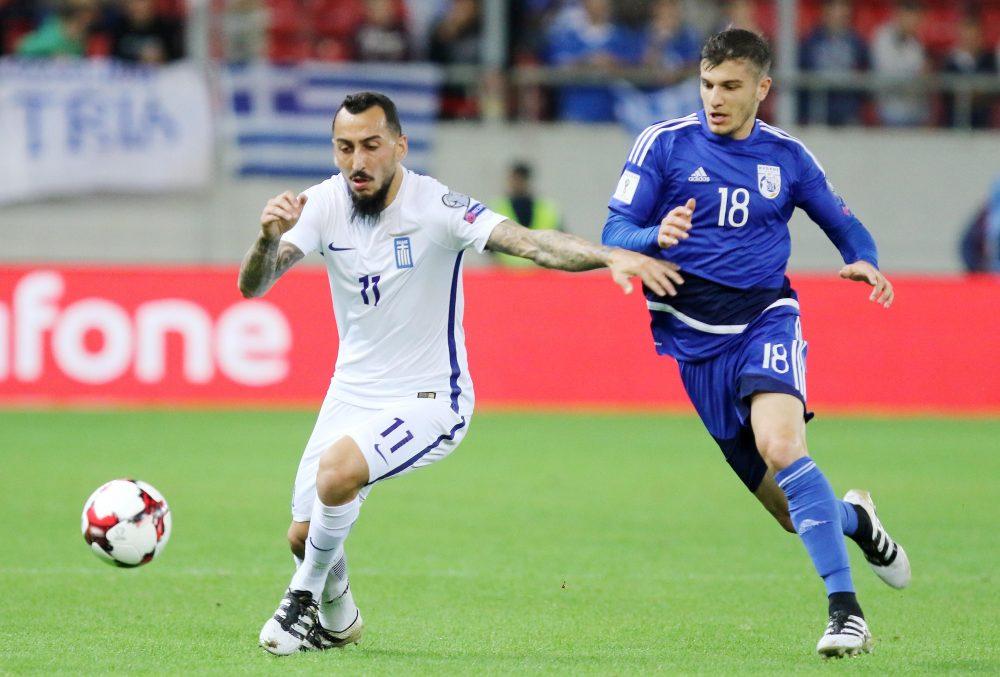 Ατομικό ταλέντο (Ελλάδα) εναντίον ομάδας (Κύπρος)... 2-0