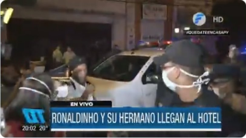 Βγήκε από τη φυλακή και πήγε στο ξενοδοχείο ο Ροναλντίνιο (vid)