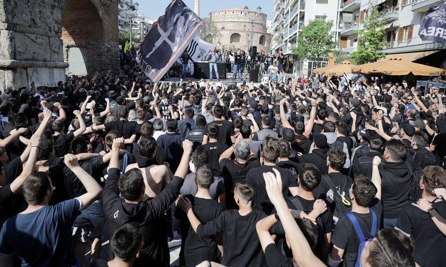 Το συλλαλητήριο των οπαδών του ΠΑΟΚ (pics)