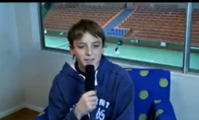 Όταν ο 13χρονος Τσιτσιπάς μιλούσε για τον Φέντερερ! (vid)
