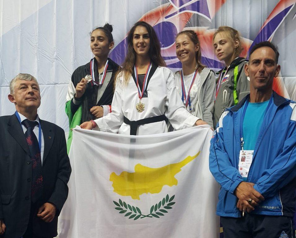 Χρυσό και αργυρό μετάλλιο για το κυπριακό Τάεκβοντο στη Ρωσία