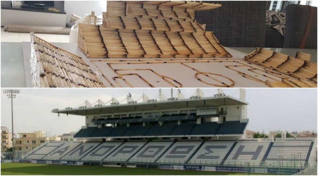 Φοβερή κατασκευή: Ομοίωμα του «Αντώνης Παπαδόπουλος» με σπίρτα (pics)