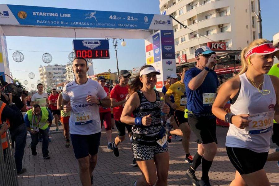 Τρία ρεκόρ και πέραν των 9.000 συμμετεχόντων στον 3ο Radisson Blu Διεθνή Μαραθώνιο Λάρνακας (pics)