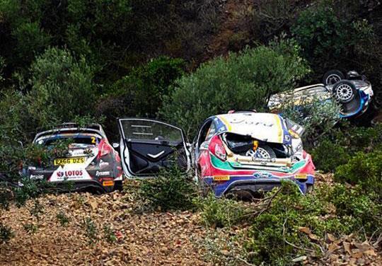 Ράλι Κύπρος: Τρία αυτοκίνητα στον ίδιο γκρεμό (εικόνα+βίντεο)
