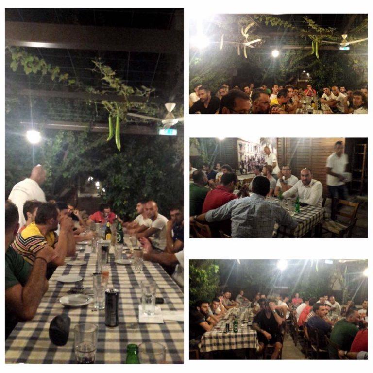 Διοίκηση και ποδοσφαιριστές σε ένα ευχάριστο δείπνο