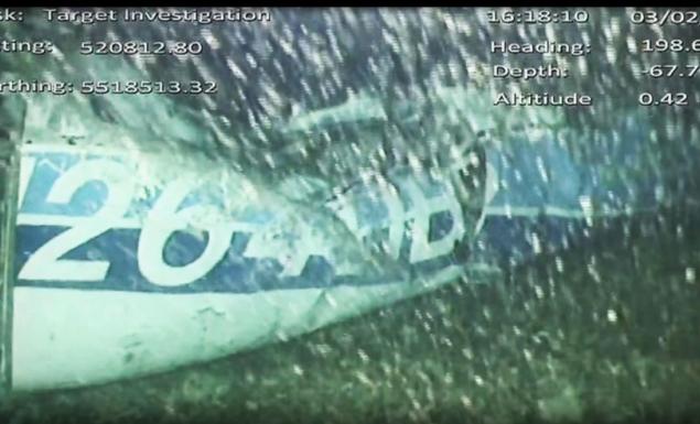 Οι πρώτες εικόνες από τα συντρίμμια του αεροπλάνου του Σαλά (vid & pics)