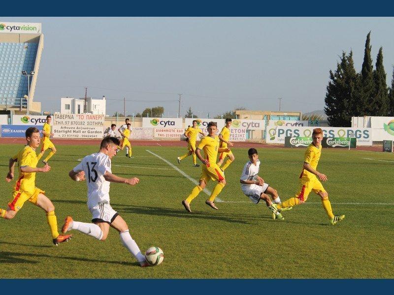 Φιλική ήττα της Εθνικής Παίδων U-15 από τη Ρουμανία