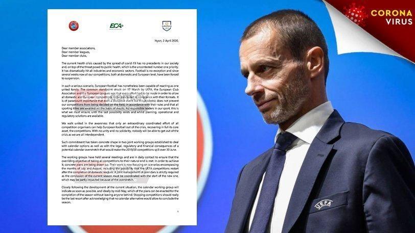 Αυτούσια η επιστολή της UEFA: «Διακοπή θέτει σε κίνδυνο ευρωπαϊκή συμμετοχή»