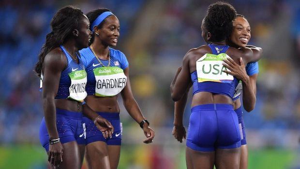 Οι Αμερικανίδες κυριάρχησαν στα 4x100μ