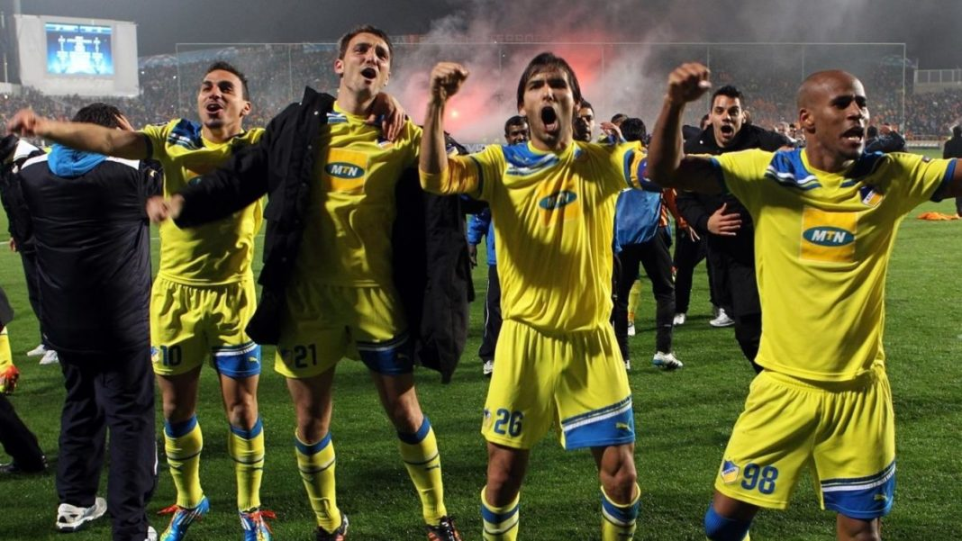 Apoel Players Revel In Progression After Their Tie Ended 1 1 Over Two Games